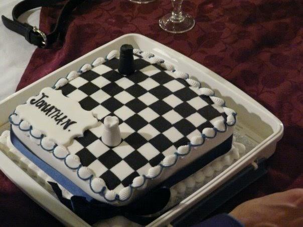 Chess Board Cake Design