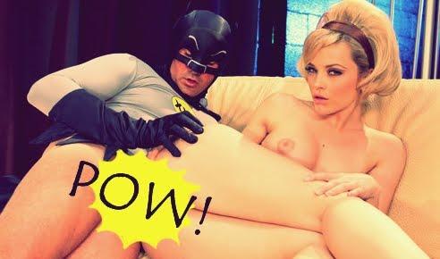 Parodia porno de batman superman con pelirroja de ojos