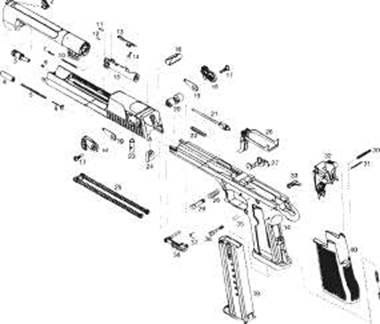 Desert Eagle Diagram Labeled, Desert, Free Engine Image