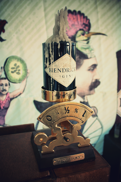 Cabinet de curiosités avec le Gin Hendricks - Londres