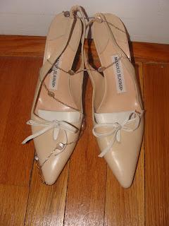 Purple Manolo Blahnik Wedding Shoes