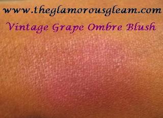"""MAC Vintage Grape Blush Ombre Swatch"""