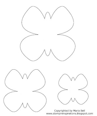 Butterfly templates lots of sizes