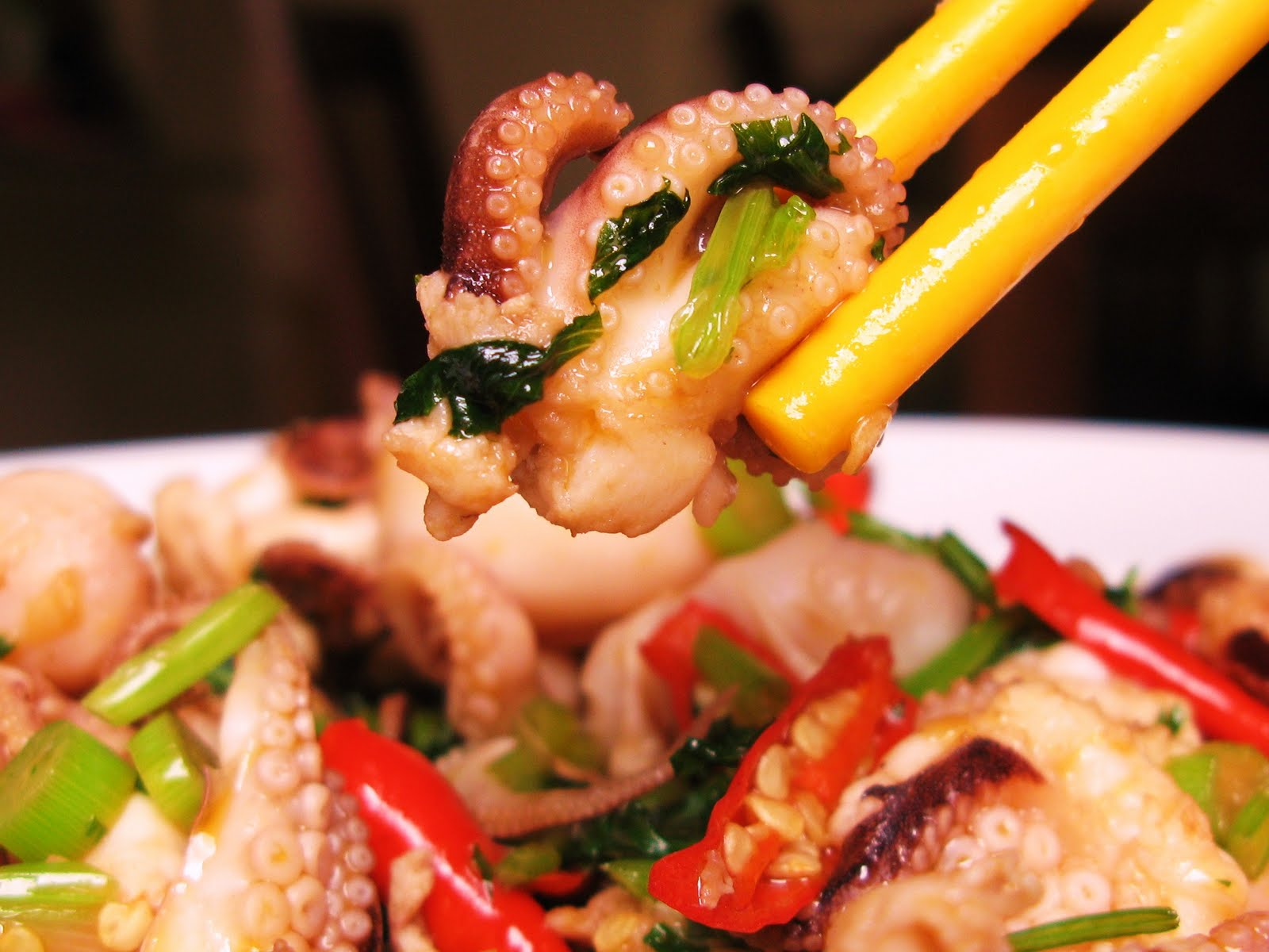 MADE WITH LOVE by............. The Burmese Mom: Spicy Octopus