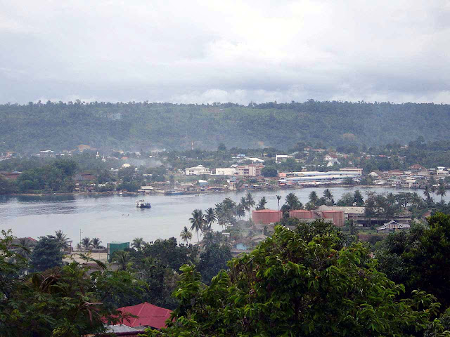 Manokwari town in Indonesia