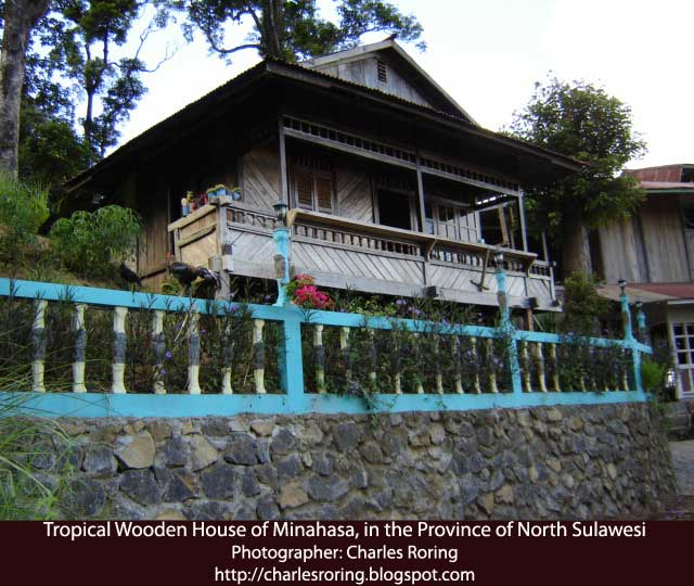 Wooden home in Minahasa regency