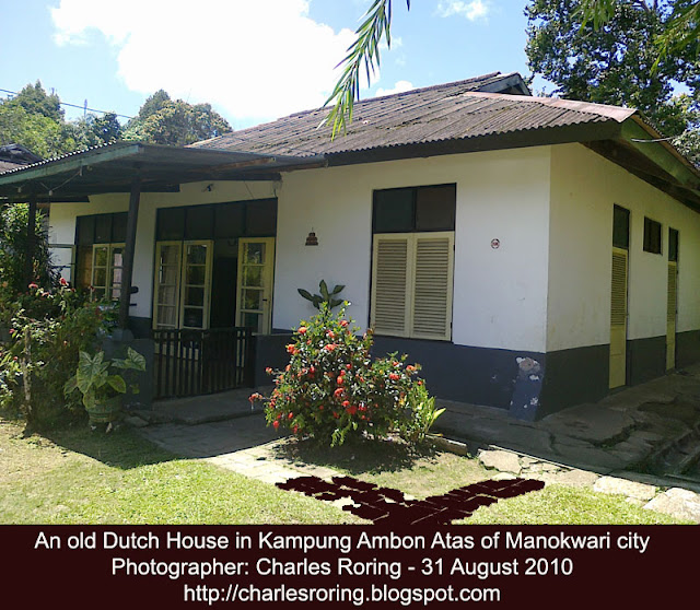 Old Dutch tropical house in Manokwari city of Indonesia