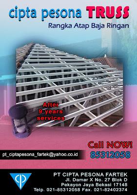 baja ringan merk pesona rangka atap cipta truss