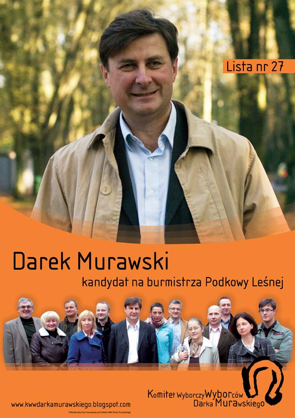 Komitet Wyborczy Wyborców Darka Murawskiego Ulotki