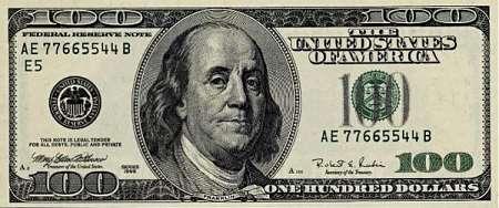 Một cọc tiền 10,000 USD bao gồm 100 tờ có độ dày khoảng 0.5 inch (~ 1.27cm).