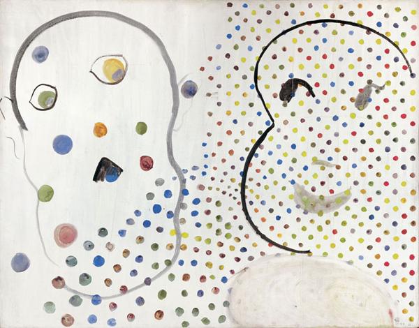 Sigmar Polke  Zwei Köpfe, Kartoffelköppe (Mao & LBJ), 1965