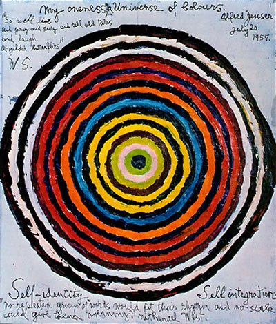 Alfred Jensen  My Oneness, A Universe of Colours, 1957 oil on canvas  66 x 55.9 cm