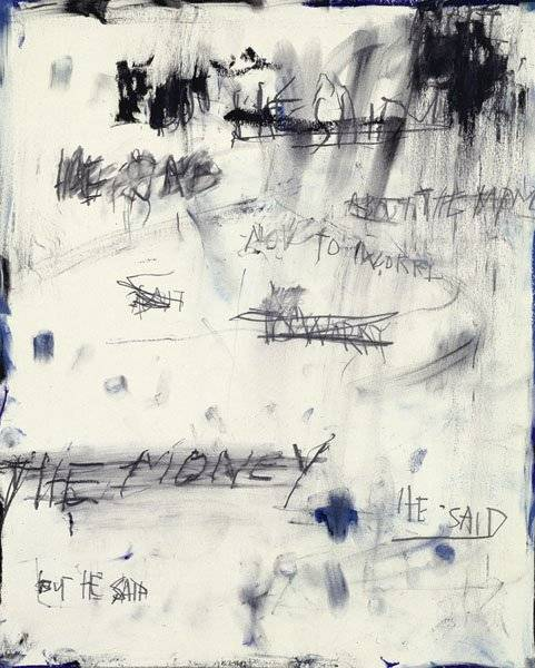 Jack Pierson He Said, 1992 Oilstick and pencil on paper 42.5 x 35.6 cm