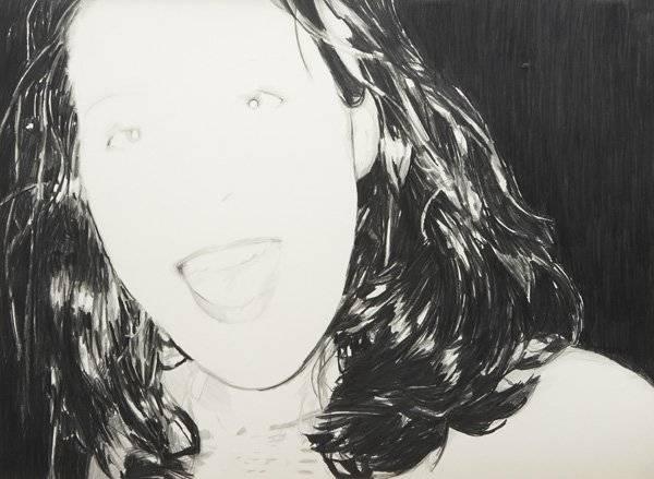 Enoc Perez  Elle, 1998  Graphite on paper  54.6 x 76.2