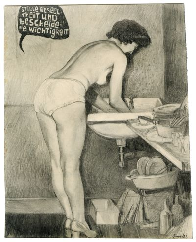 Franz Burkhardt  Untitled, 2006 pencil on paper 22 x 17.5 cm