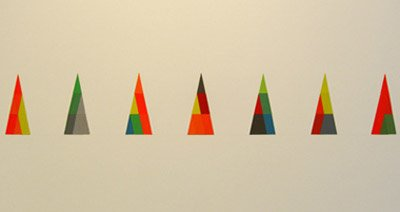 Kate Shepherd Untitled, 2008 Assembled cut screen prints 21 x 9 inches (53.3 x 22.8 cm) (each