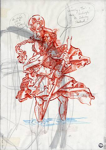 David Godbold  Always with the hidden extras, 2008 Ink and pencil on tracing paper over found paper 42 x 29.5 cm