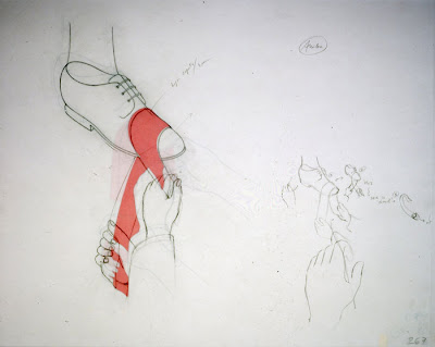 Francis Alÿs, Bolero (Shoe Shine Blues), 1996-2007, animation, contemporary drawing