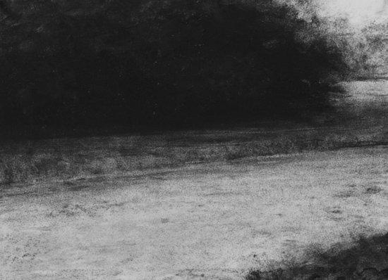 Renie Spoelstra Recreatiegebied 77, 2009 28 x 38 cm charcoal on paper