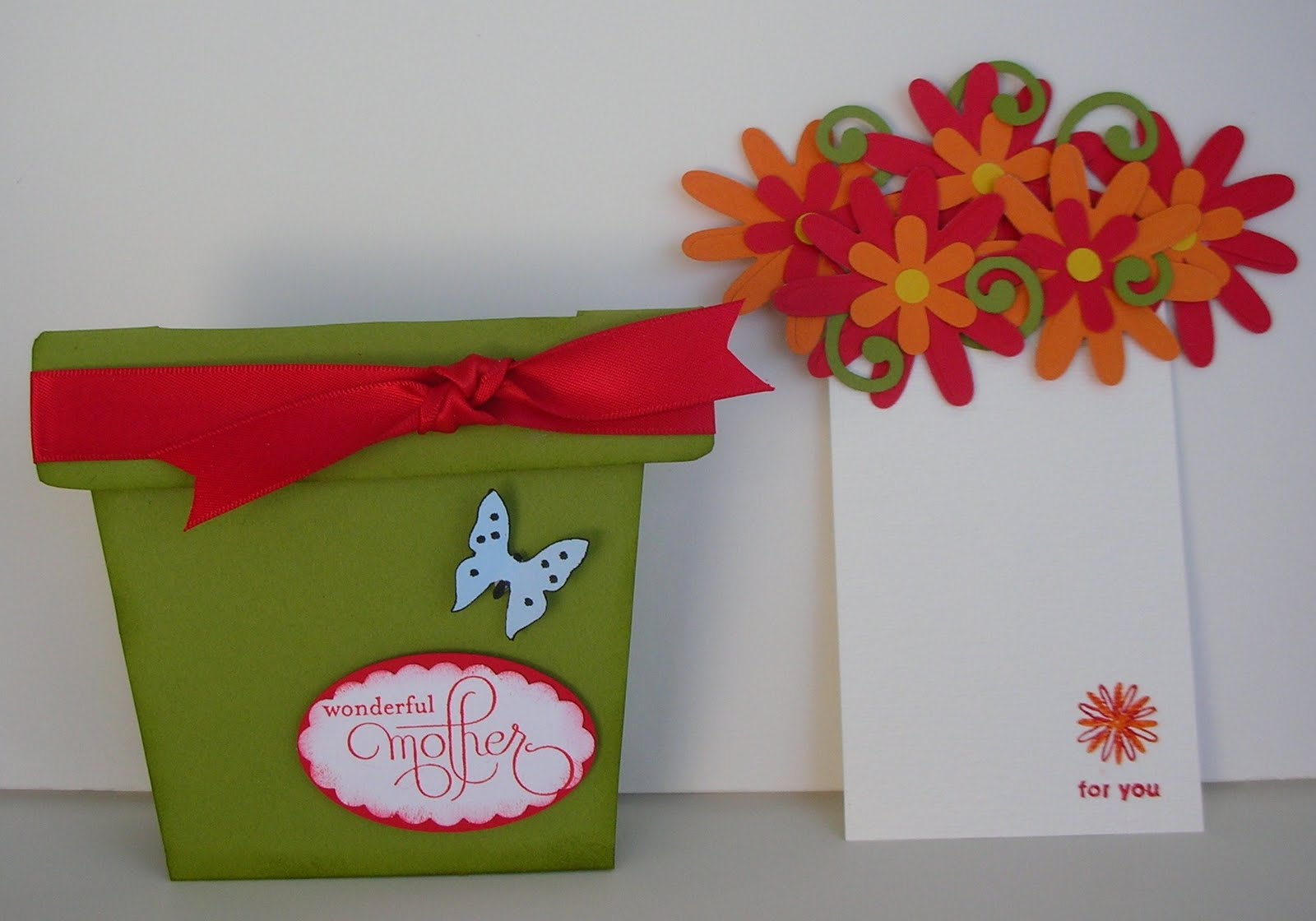 Crafting With Princess Lisa Standing Flower Pot Gift Card Holder