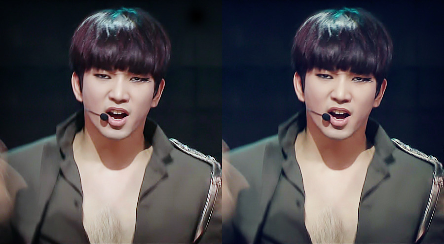 [picture] MBLAQ G.O. Showed His Y On Inkigayo!