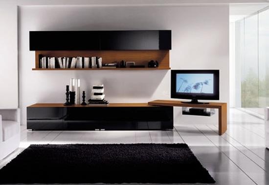 Moderna sala de estar con tv lcd decorando mejor for Sala de estar con tv