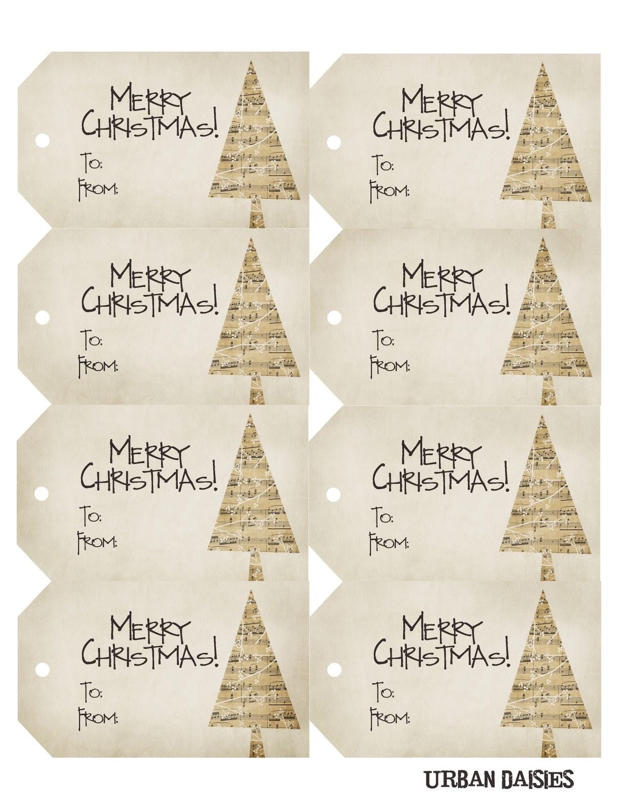 Urban Daisies: Christmas Gift Tags