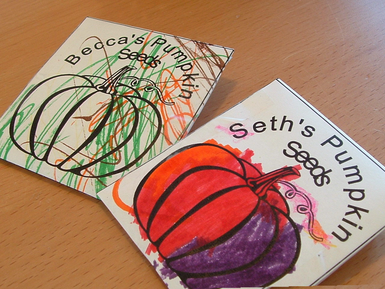Pieces By Polly Printable Pumpkin Seed Packets Book And Activity