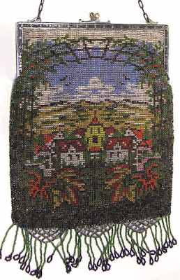 Example showing many seed bead colors used in vintage beaded purses