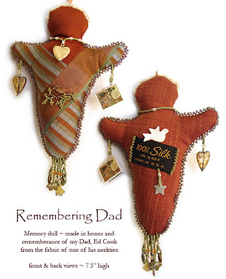 Remembering Dad, spirit doll, memory doll by Robin Atkins