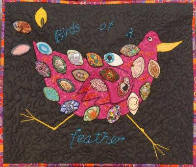 bead quilt, Birds of a Feather, by Mat-Su Valley Bead Society