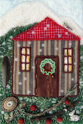 bead embroidery, bead journal project, Robin Atkins, December, Door Closed