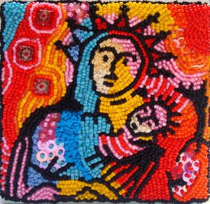 bead embroidery, BJP by Celticat