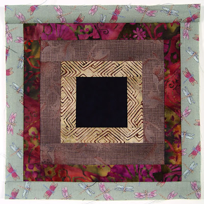 God's Eye Quilt, block 10, by Robin Atkins