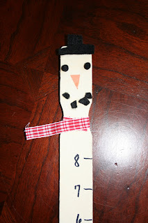 Pink And Green Mama Kid S Craft Paint Stick Snowman Ruler