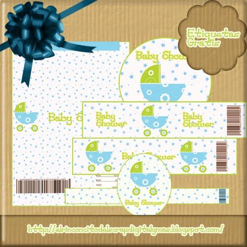 Magic Crafts: Etiquetas Para Baby Shower Niño O