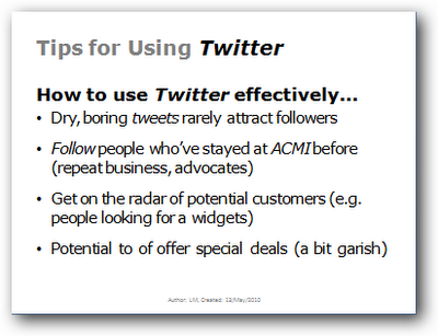 Tips for using Twitter