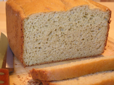 loaf of sliced gluten-free sorghum bread