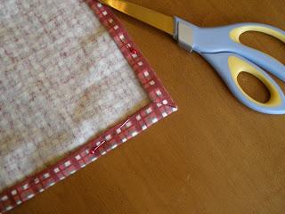 sewing cloth napkin corners step 4
