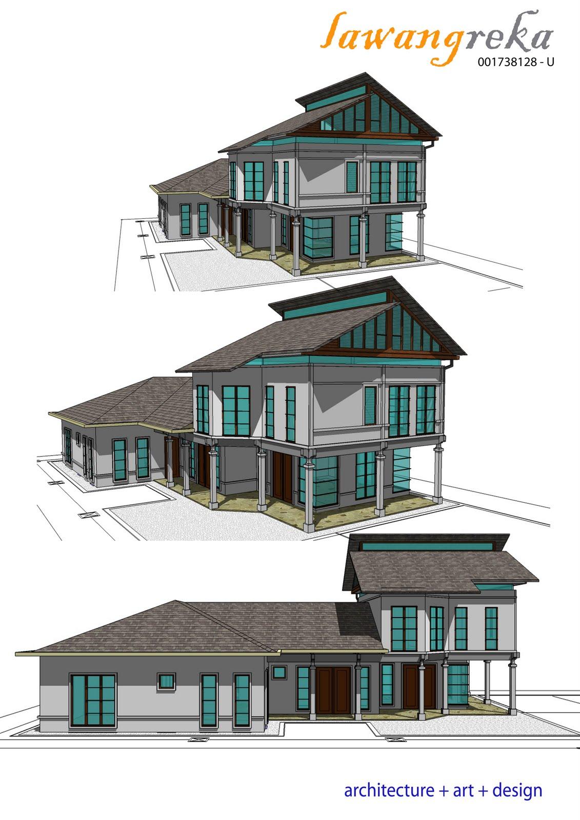 Pelan Rumah Kampung Bertiang