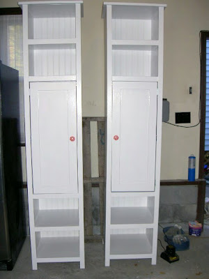 diy tower storage shelves with doors