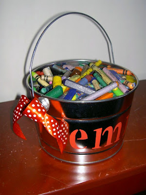 diy kids personalized pails