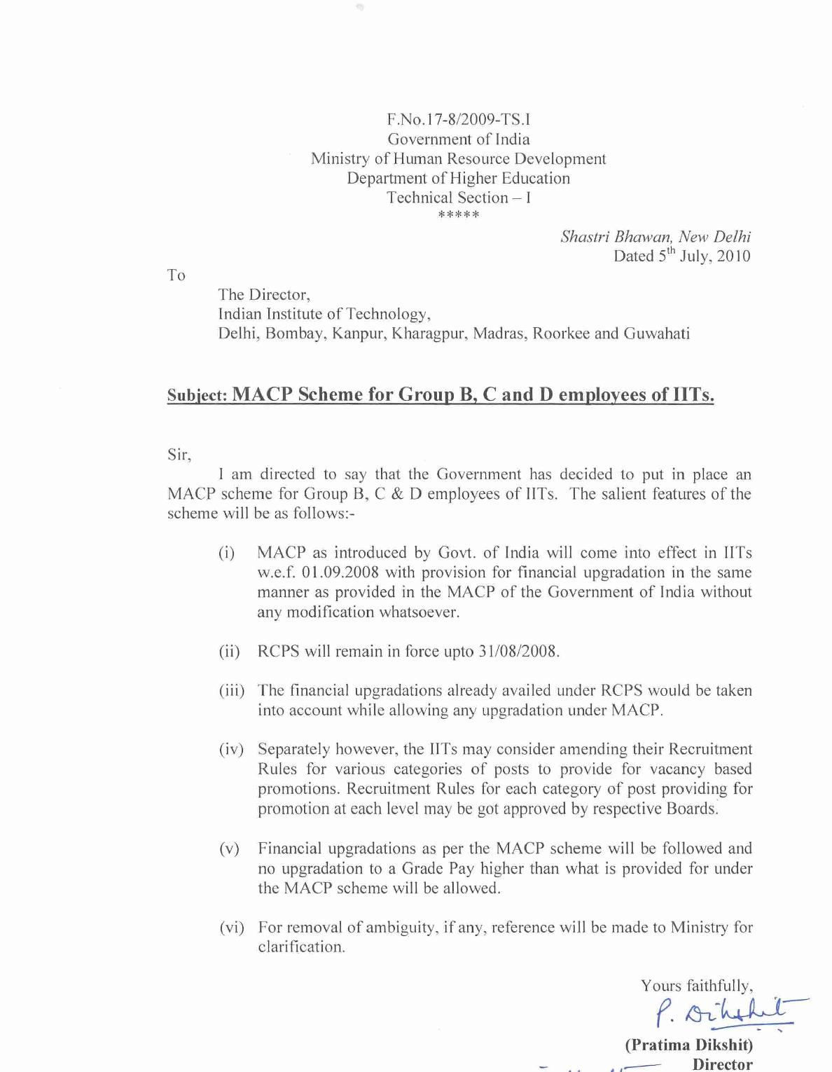 Central Government Employees News: MACP Scheme for Group B