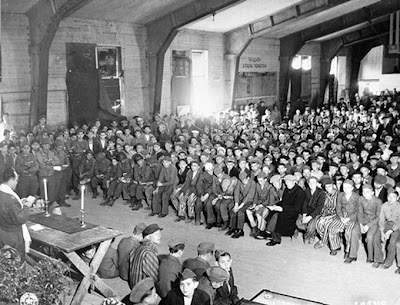 Second Passover services for Buchenwald survivors Clip Art