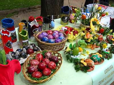 Traditional painted easter eggs in Croatia.