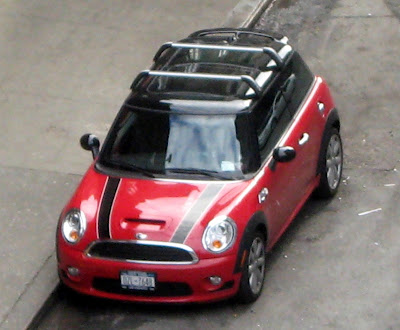 red and black mini cooper