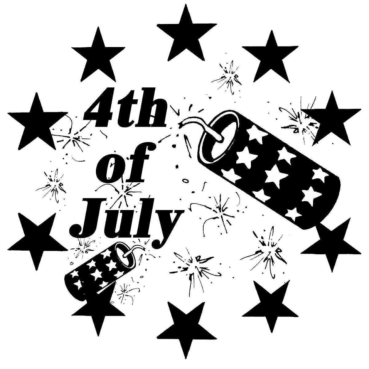 4th Of July Firecracker Public Domain Clip Art Photos And