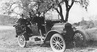 One of the U.S. Geological Survey's first cars. Circa 1918. From the Gerald Fitzgerald album. U.S. Geological Survey