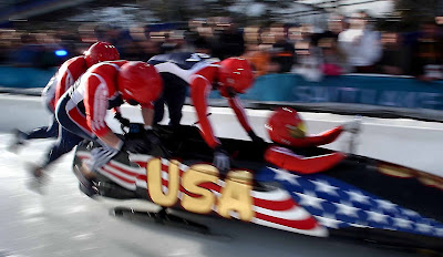 Winter Olympics four-man bobsled