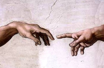 Sistine Chapel, fresco Michelangelo Hands of God and Adam